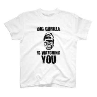 BIG GORILLA IS WATCHING YOU T-shirts