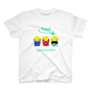 I💛French fries(face ver.) T-shirts
