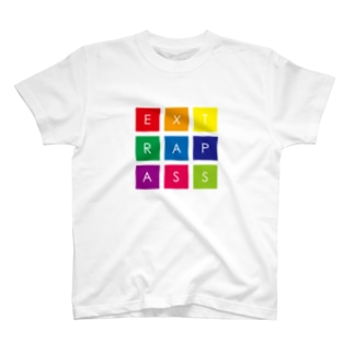 COLORFUL SQUARE LOGO T-shirts