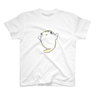 フグのコロンさん♀ T-shirts