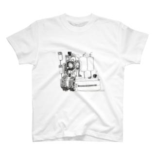ペンキ屋さんの描いたイラスト スチームパンク風工場 T-shirts