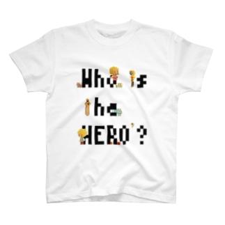 ピクセルもじ と ボクセルきょうだい(黒文字) T-shirts