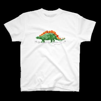 Kanako Okamotoのステゴサウルス T-shirts