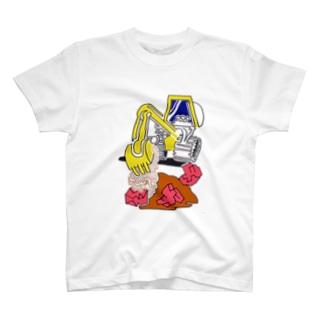 (ミ) パワーショベル T-shirts