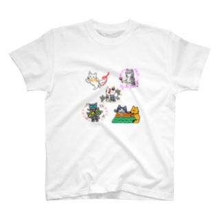黒猫三兄弟 ワン!ダフル ライフ コラボ T-shirts