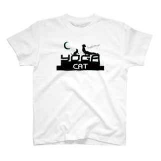 月とヨガと猫と、part2 T-shirts