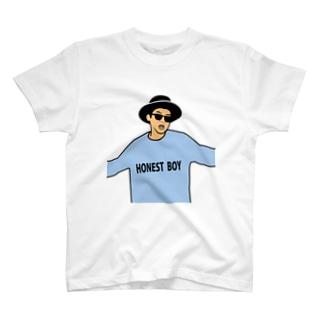 HONEST BOY COLOR T-shirts