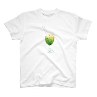 食べかけクリームソーダ T-shirts
