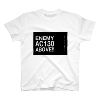 Enemy AC130 Above!!(Black) T-shirts