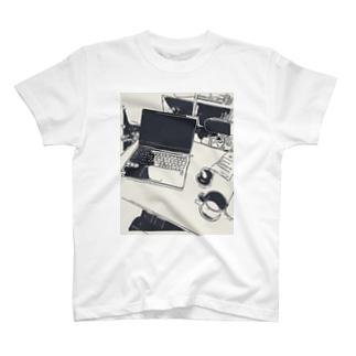 モノクロワーク T-shirts