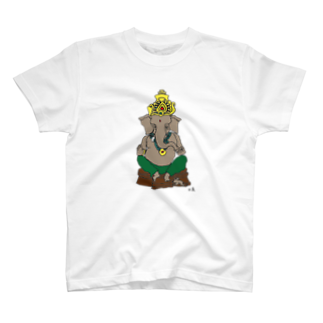 Happy Elephantのガネーシャ T-shirts