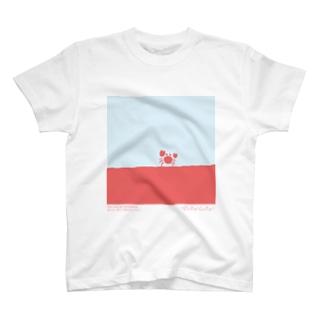 【hitocoto】カニ T-shirts