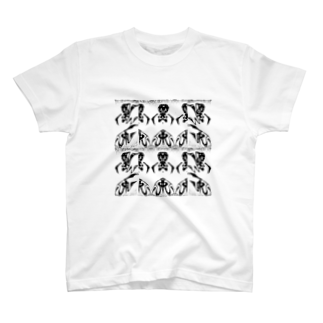兎派の黒兎-クロウサギ-(WHITE) T-shirts
