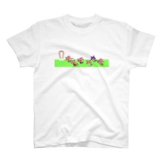 蹄ぽに子のうまぽにこだーびー T-shirts
