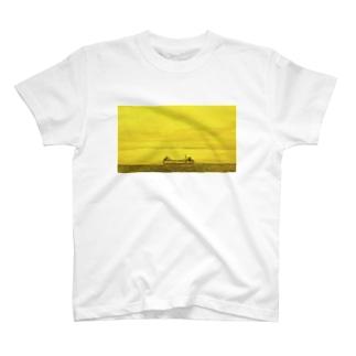 SHIP yellow T-shirts