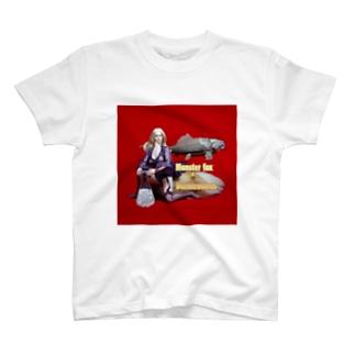 ドール写真:ブロンドの妖狐と甲冑魚 Doll picture: Blonde monsterfox & Dunkleosteus T-shirts