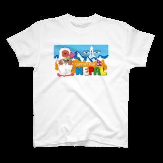 reshamfiririのネパールチャリティーグッズ03 ネパティーくん T-shirts