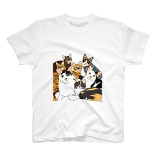ねこあつめ T-shirts