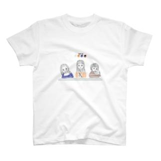 食事中のこども T-shirts