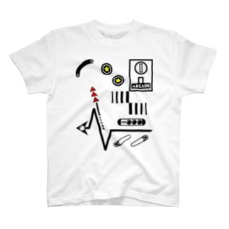 [ARCADE]PINBALL White T-shirts