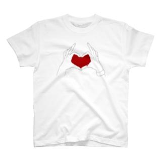 ラブサイン T-shirts