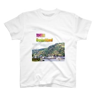 FUCHSGOLDのドイツ:ローレライへの曲がり角 Germany: Rhein near Loreley T-shirts