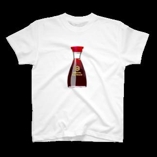 POKI'S ROOMのお醤油さん T-shirts
