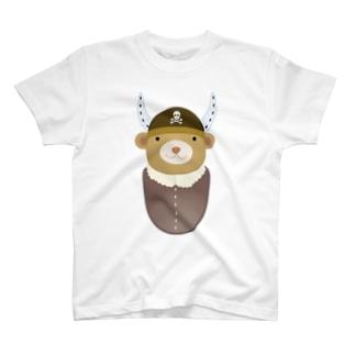 海賊になりたいクマ T-shirts