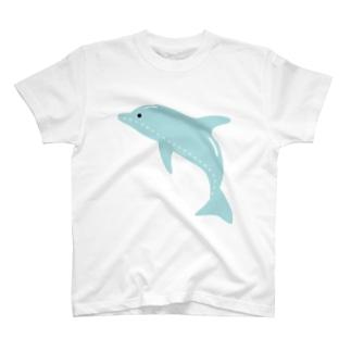 縫い目イルカ T-shirts