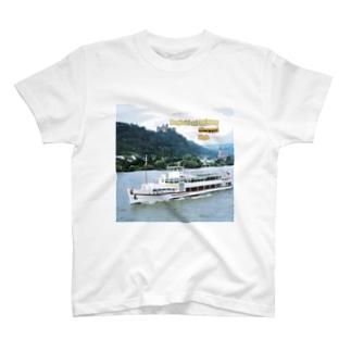 ドイツ:シェーンブルク城とライン川 Germany: Burghotel auf Schönburg / Oberwesel / Rhein T-shirts