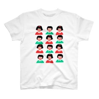 びっくり女の子と男の子 T-shirts