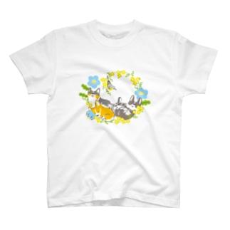 ねむねむコーギー(色違い) T-shirts