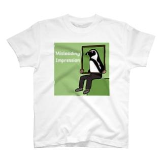 Misleading Impression (penguin) T-shirts