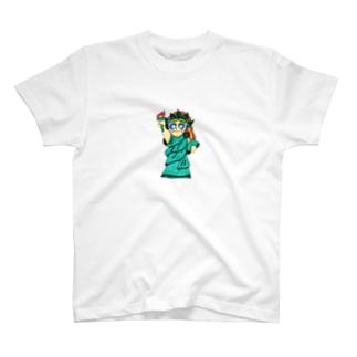 自由な女神 T-shirts