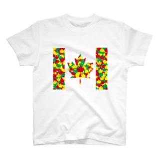 カナダ 紅葉 CANADA もみじ かえで T-shirts