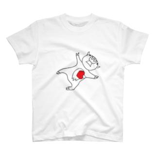 レッドビッグピックピッグ T-shirts