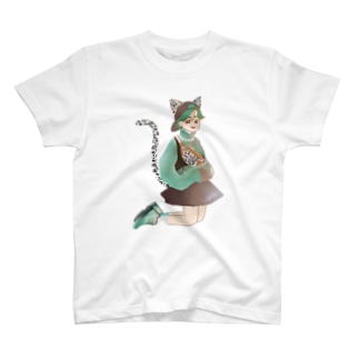 Green catgirl T-shirts