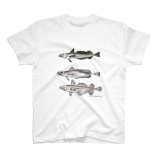 「おいしい給食」公式グッズショップの3匹のメルルーサ T-shirts