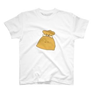 餅巾着一つ T-shirts