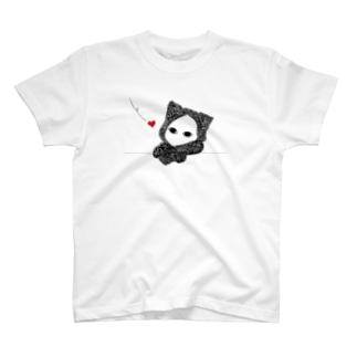たそがれ キズねこ T-shirts