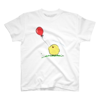 ピヨコ「Hope you are happy today.」 T-shirts