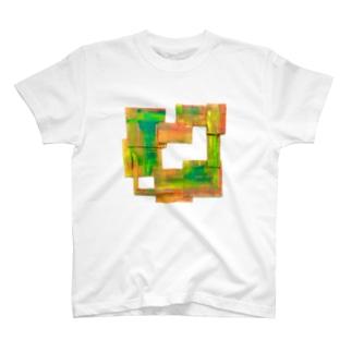 絵描きのフレーム T-shirts
