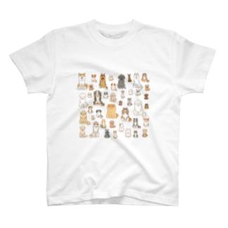 ワンコ大集合 T-shirts
