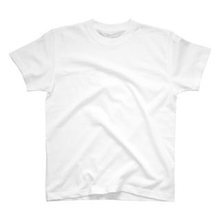 無地プリントT/白 T-shirts