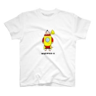 ロケットわんちゃん (あげあげ) T-shirts