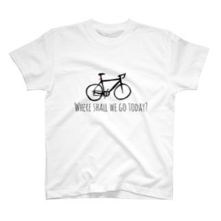 自転車で何処に行こうかな? T-shirts