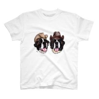 カウボーイなセントバーナードくん❤︎ T-shirts