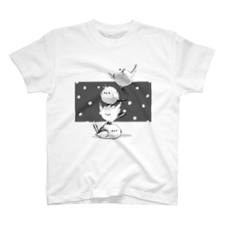 まるまるシマエナガ T-shirts