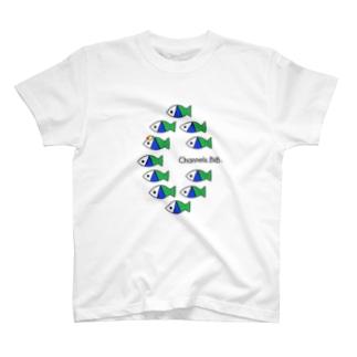 さかなロゴ むれ T-shirts