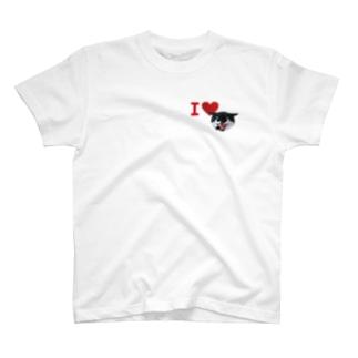 グラス♪バットにゃんNo.8 T-shirts
